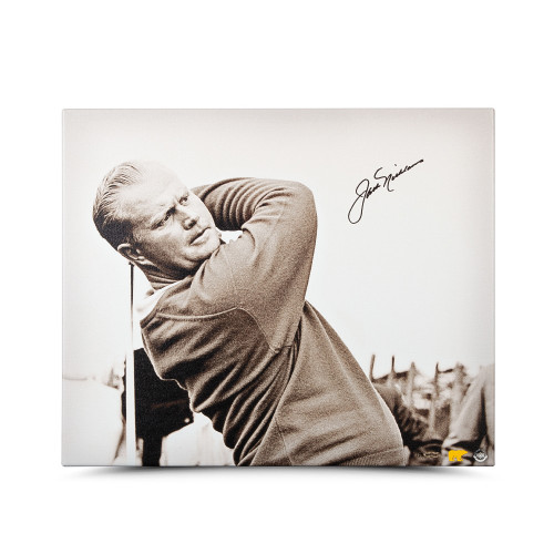 JACK NICKLAUS Autographed Up Close & Personal Canvas 20 x 24 UDA LE 25