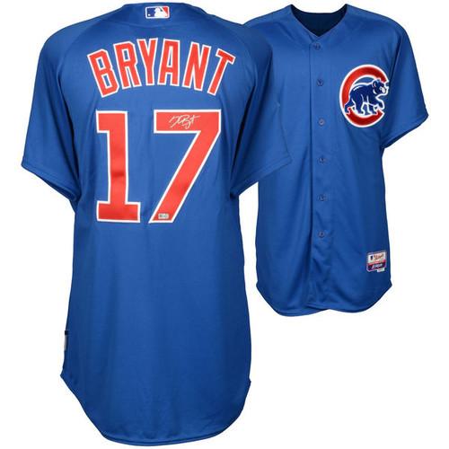 KRIS BRYANT Chicago Cubs Autographed Blue Authentic Jersey FANATICS
