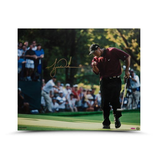 "TIGER WOODS Autographed ""2000 PGA Championship"" 20 x 24 Photo UDA"