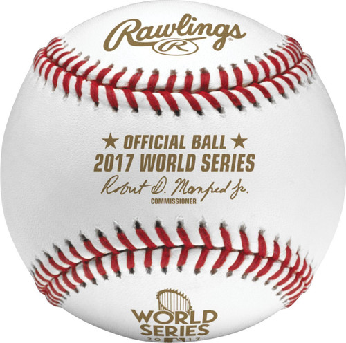 2017 WORLD SERIES Official Baseball with Case