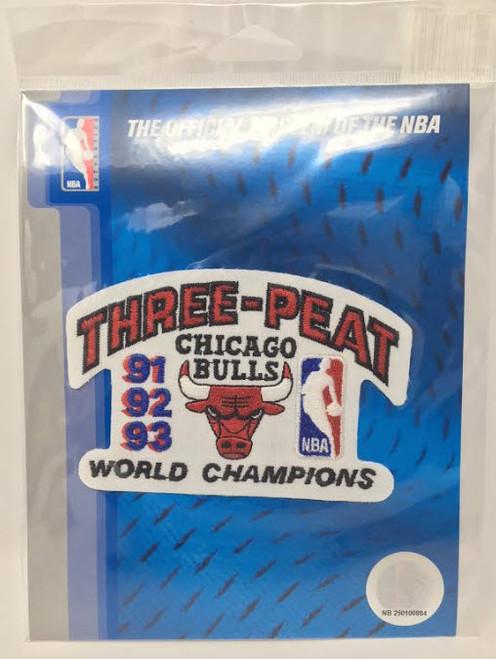 MICHAEL JORDAN Official Three-Peat NBA Official Patch CHICAGO BULLS