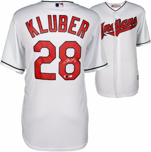 COREY KLUBER Autographed Cleveland Indians White Jersey FANATICS