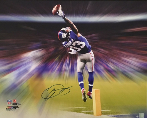 ODELL BECKHAM JR. Signed The Catch Motion Blast 24 x 30 Canvas STEINER LE 13