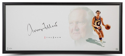 "JERRY WEST Autographed Lakers ""The Show"" 46"" x 20"" Photo Display UDA"