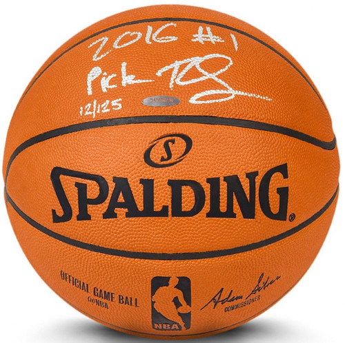"BEN SIMMONS Signed & Inscribed ""2016 #1 Pick"" Authentic Basketball UDA LE 50"