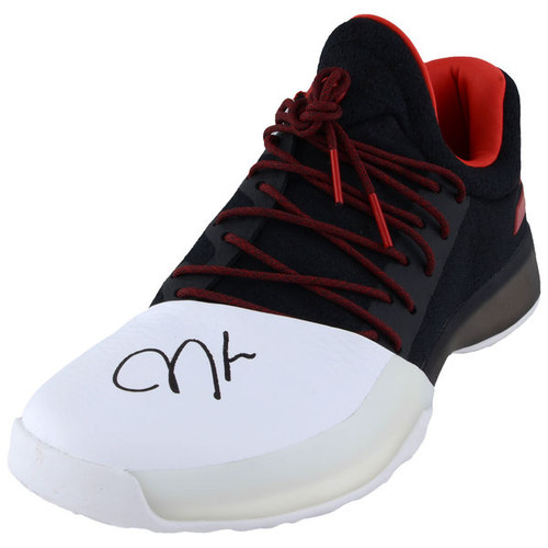 JAMES HARDEN Houston Rockets Autographed Adidas Black and Red Individual Shoe FANATICS