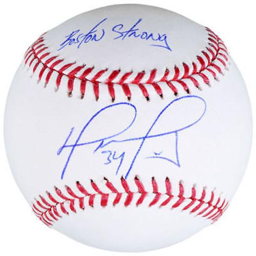 "DAVID ORTIZ Autographed Boston Red Sox ""Boston Strong"" Baseball FANATICS"