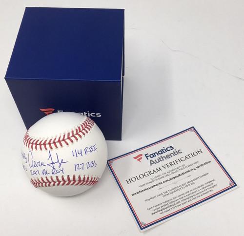 AARON JUDGE Autographed Multi ROY Stat NY Yankees Baseball FANATICS LE 99