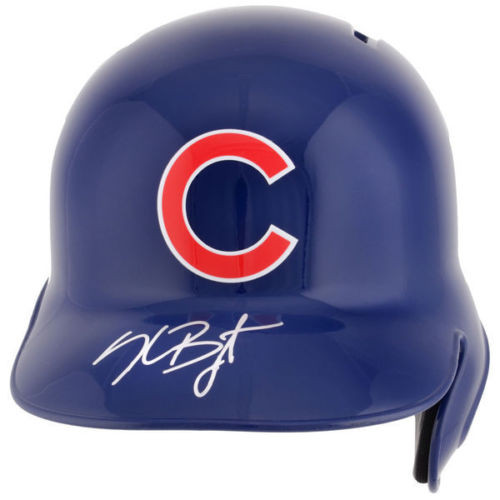 KRIS BRYANT Autographed Chicago Cubs Batting Helmet FANATICS