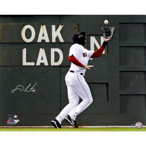 "J.D. MARTINEZ Autographed Red Sox ""Green Monster"" 16"" x 20"" Photograph STEINER"