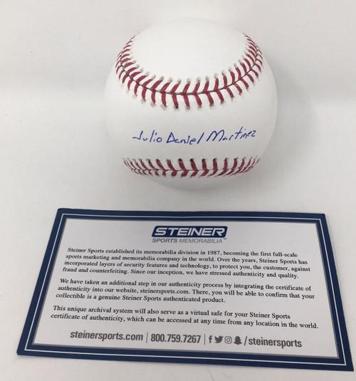 JULIO DANIEL J.D. MARTINEZ Autographed Red Sox Official Baseball STEINER
