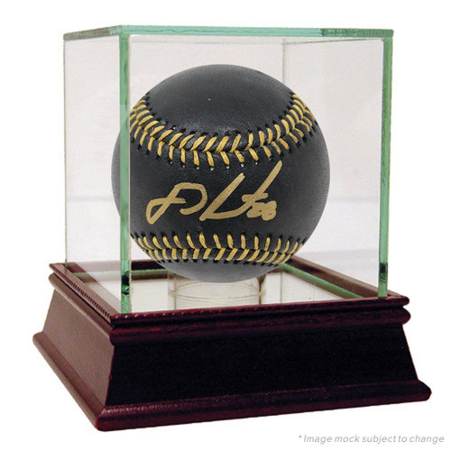 J.D. MARTINEZ Autographed Red Sox Black Leather Official Baseball STEINER