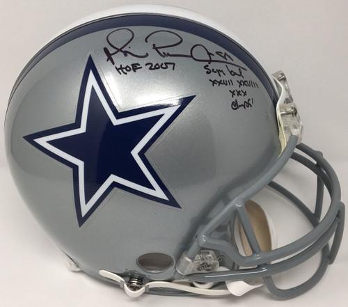 """MICHAEL IRVIN Signed / Inscribed """"HOF 07"""" Cowboys Proline Helmet STEINER LE 1/88"""