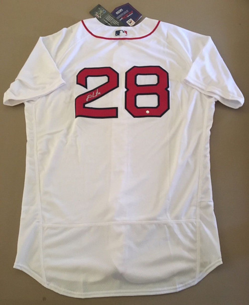 J.D. MARTINEZ Autographed Boston Red Sox Authentic Home Jersey STEINER