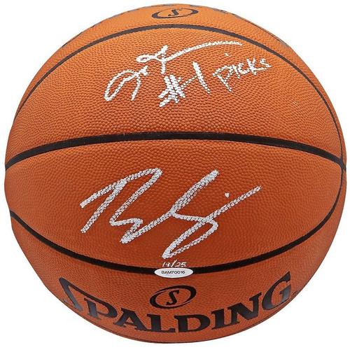 BEN SIMMONS / ALLEN IVERSON Autographed #1 Picks Authentic Basketball UDA LE 25