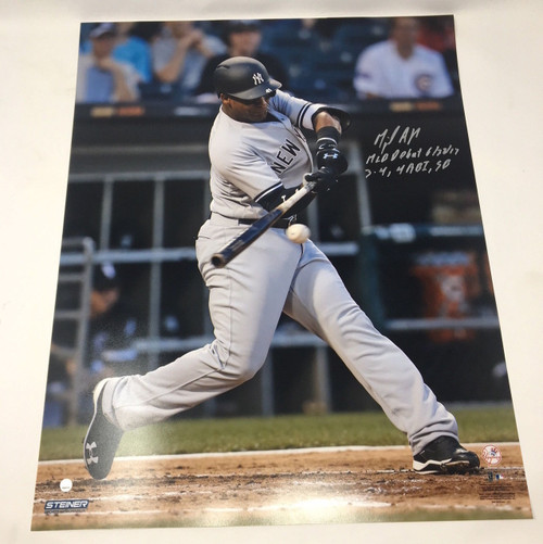 """MIGUEL ANDUJAR Autographed / Inscribed """"MLB Debut"""" 16"""" x 20"""" Photograph STEINER"""