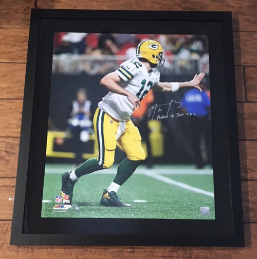 "AARON RODGERS Signed ""Fastest to 300 TD's"" 20 x 24 Photograph STEINER LE 12/12"