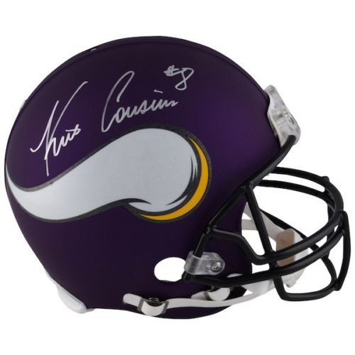 KIRK COUSINS Autographed Minnesota Vikings Authentic Proline Helmet FANATICS
