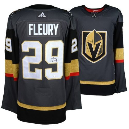 MARC-ANDRE FLEURY Autographed Golden Knights Authentic Black Jersey FANATICS