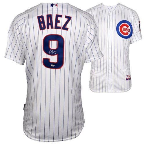JAVIER BAEZ Autographed Chicago Cubs Authentic Home White Jersey FANATICS