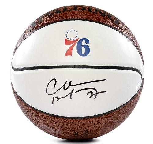 CHARLES BARKLEY Autographed Philadelphia 76ers White Panel Basketball PANINI