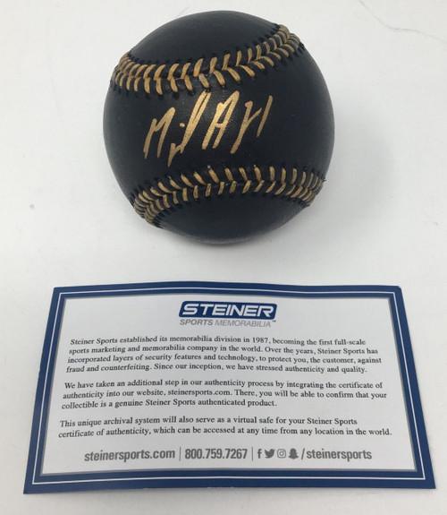 MIGUEL ANDUJAR Autographed New York Yankees Black Leather Baseball STEINER