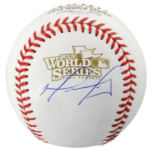 DAVID ORTIZ Autographed Boston Red Sox 2013 World Series Baseball FANATICS