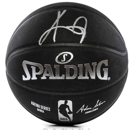 KYRIE IRVING Autographed Brooklyn Nets Black Spalding Basketball PANINI