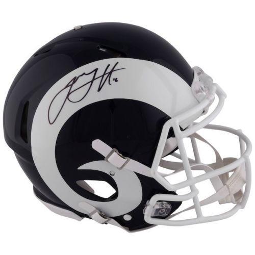 JARED GOFF Autographed Los Angeles Rams Speed Authentic Helmet FANATICS