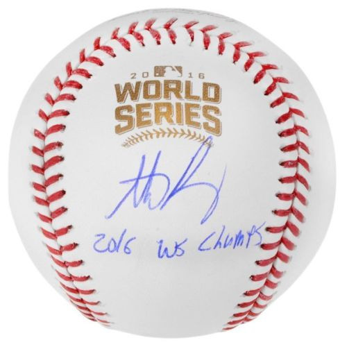 """ANTHONY RIZZO Autographed Cubs Official """"2016 WS Champs"""" Baseball FANATICS"""