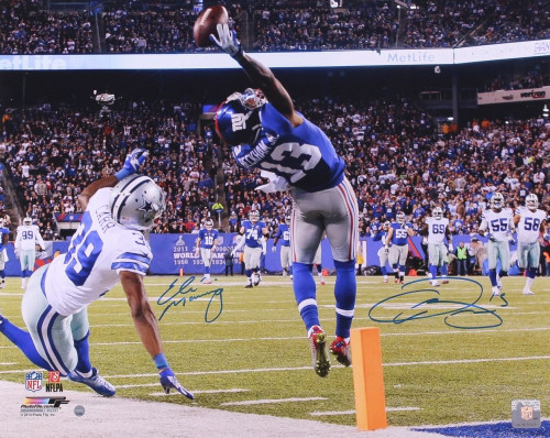 Eli and Odell's signature are guaranteed authentic through the Steiner Sports hologram system.