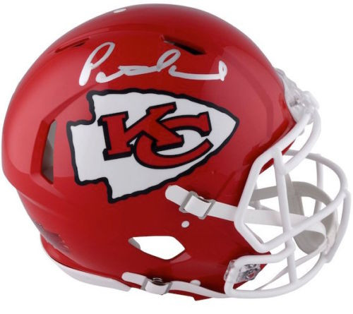 PATRICK MAHOMES Autographed Kansas City Chiefs Speed Authentic Helmet FANATICS