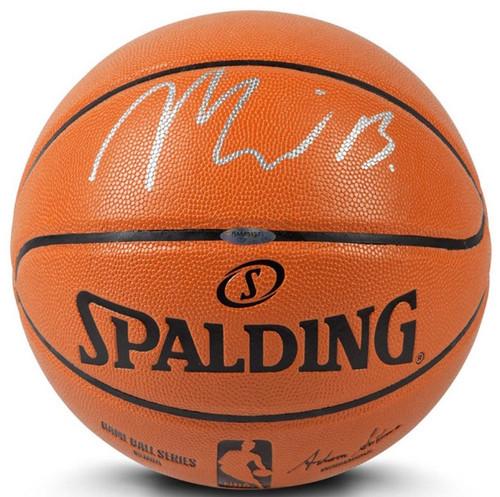 MILES BRIDGES Autographed Charlotte Hornets Spalding Basketball UDA
