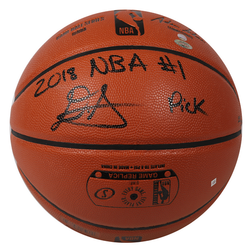 """DEANDRE AYTON Autographed (Black) and Inscribed """"2018 NBA #1 Pick"""" Game Ball Series Spalding Basketball - Limited Edition of 22 - GAME DAY LEGENDS & STEINER"""