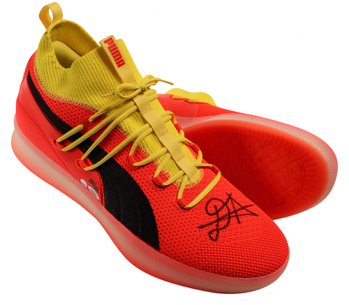 """DEANDRE AYTON Autographed and Inscribed """"Time To Rise"""" Puma Clyde Court Disrupt Size 16 Shoes - Limited Edition of 22 - GAME DAY LEGENDS & STEINER"""