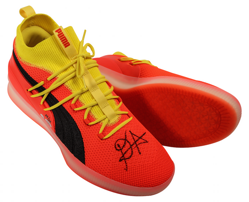 """DEANDRE AYTON Autographed and Inscribed """"2018 NBA #1 Pick"""" Puma Clyde Court Disrupt Size 16 Shoes - Limited Edition of 22 - GAME DAY LEGENDS & STEINER"""