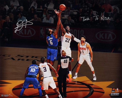 """DEANDRE AYTON Autographed and Inscribed Phoenix Suns """"Time To Rise"""" Tip Off 16"""" x 20"""" Photograph - Limited Edition of 22 - GAME DAY LEGENDS & STEINER"""