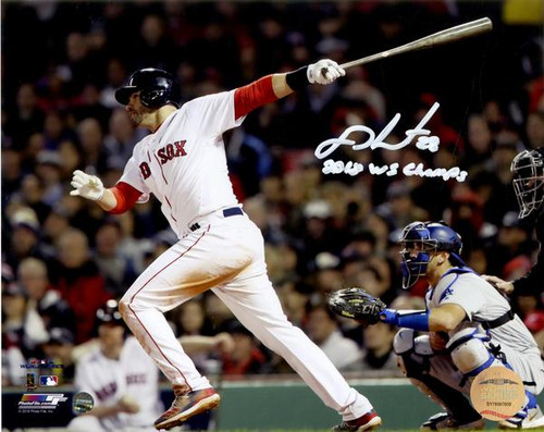 "J.D. MARTINEZ Autographed/Inscribed ""2018 WS Champs"" 2018 World Series 16x20 Photograph STEINER"