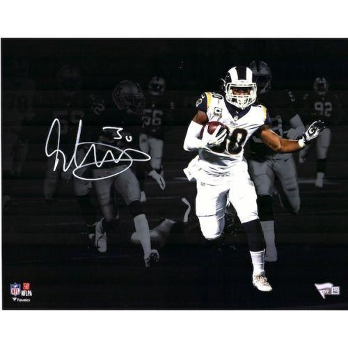 "TODD GURLEY Autographed Los Angeles Rams 11"" x 14"" Spotlight Photograph - FANATICS"