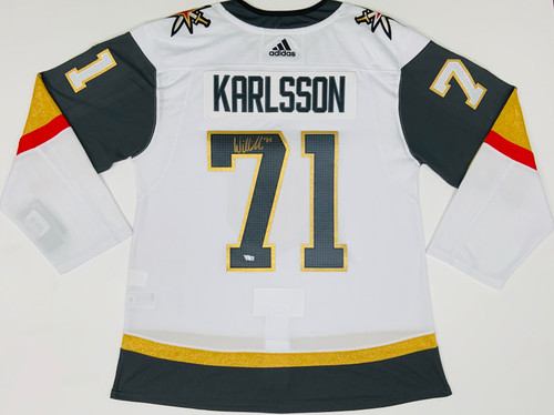 WILLIAM KARLSSON Autographed Las Vegas Golden Knights White Adidas Authentic Jersey FANATICS