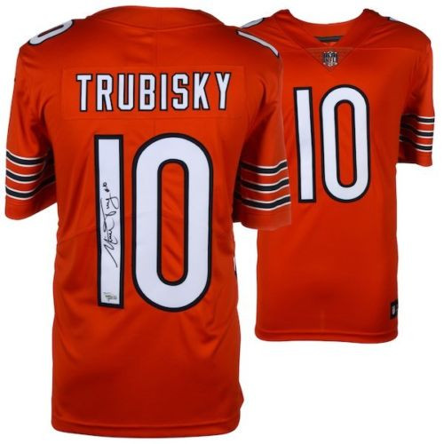 MITCHELL TRUBISKY Autographed Chicago Bears Orange Limited Nike Jersey FANATICS