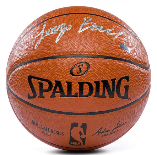 LONZO BALL Los Angeles Lakers Hand Signed (in Silver) Spalding NBA Game Ball Series Basketball PANINI