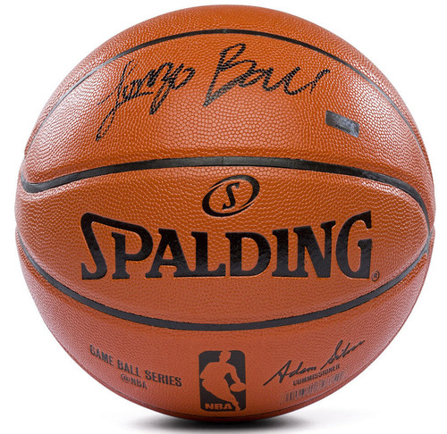 LONZO BALL Los Angeles Lakers Hand Signed (in Black) Spalding NBA Game Ball Series Basketball PANINI