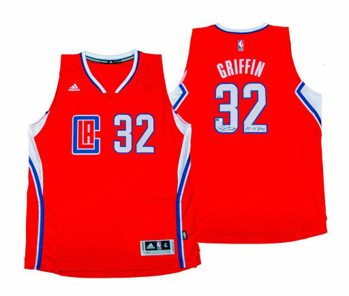 BLAKE GRIFFIN Signed Clippers ROY Inscribed Red Jersey Limited Edition 1 of 32 PANINI