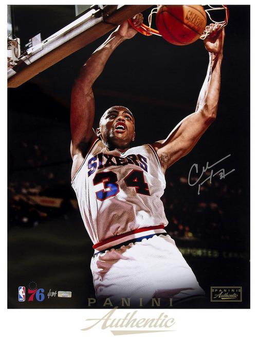 "CHARLES BARKLEY Autographed Philadelphia 76ers ""Slam"" 16"" x 20"" Photograph Limited Edition 1 of 134  PANINI"