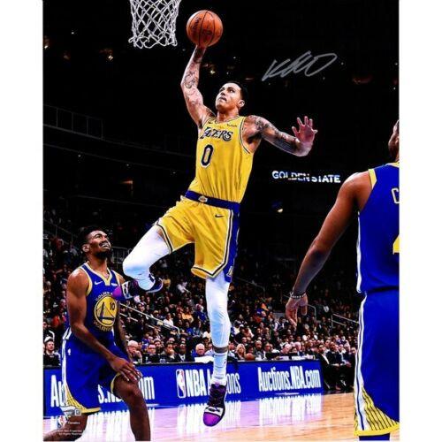 "KYLE KUZMA Autographed Los Angeles Lakers 16"" x 20"" Driving Layup FANATICS"