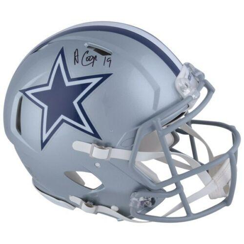 AMARI COOPER Autographed Dallas Cowboys Full Size Authentic Speed Helmet FANATICS