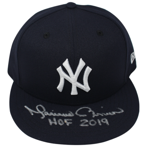 """MARIANO RIVERA Autographed New York Yankees """"HOF 2019"""" New Era Fitted Hat STEINER"""