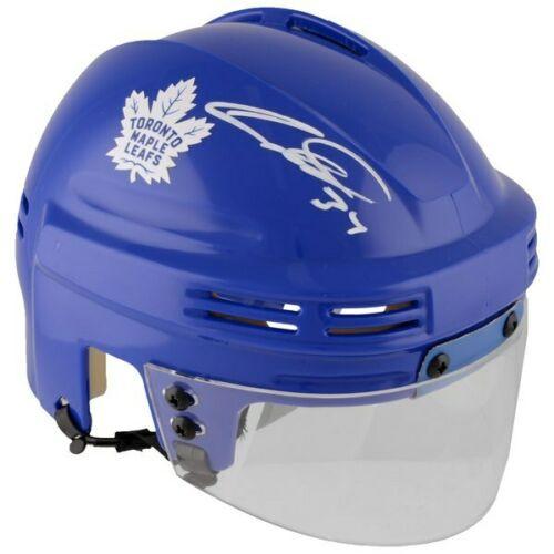AUSTON MATTHEWS Autographed Toronto Maple Leafs Blue Mini Helmet FANATICS