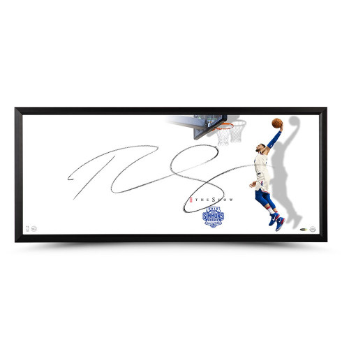 """BEN SIMMONS Philadelphia 76ers Autographed Rookie of the Year """"The Show"""" Framed Display UDA"""